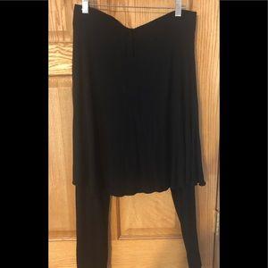 Legacy Pants - Legacy Black Mid-Length Rayon Skirted Legging M
